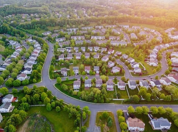 Luchtfoto woonwijk ontwikkeling