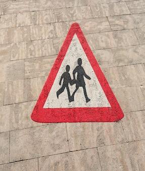 Luchtfoto zebrapad textuur teken