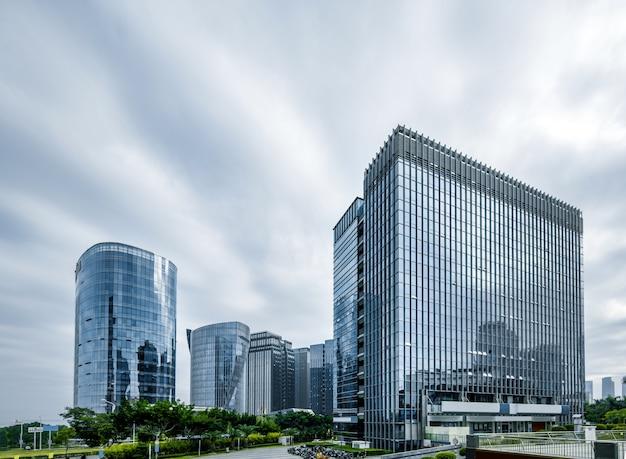 Luchtfotografie cbd-centrum van qianjiang new city, fuzhou