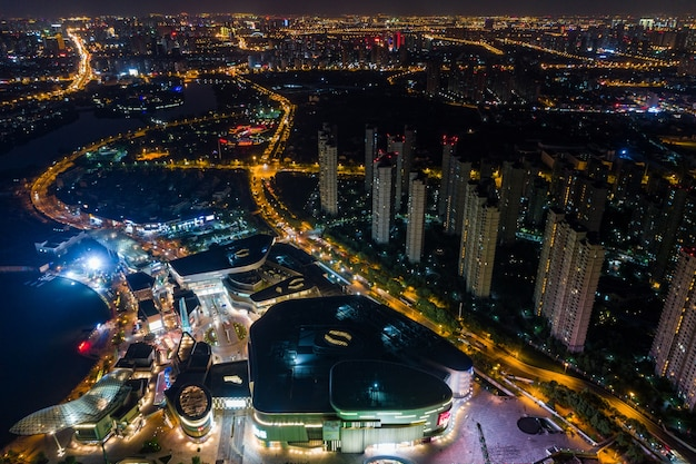 Luchtfotografie chinese stad