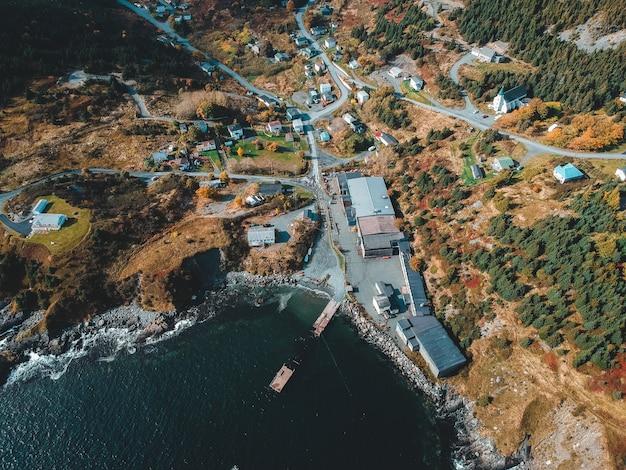 Luchtfotografie van dorp