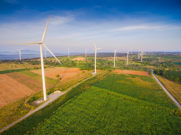 Luchtmening van de generatorbouwbedrijf van de windturbine