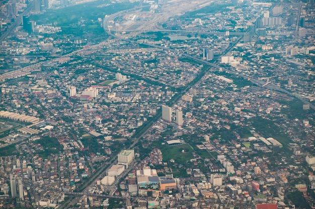 Luchtmening van de stad van bangkok, thailand