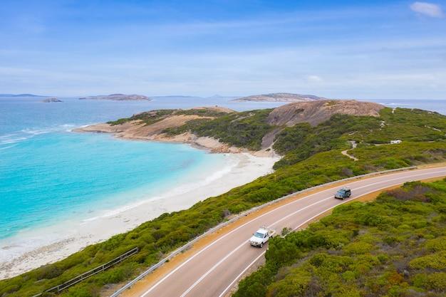 Luchtmening van grote oceaanweg in victoria, australië