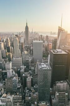 Luchtmening van manhattan, new york