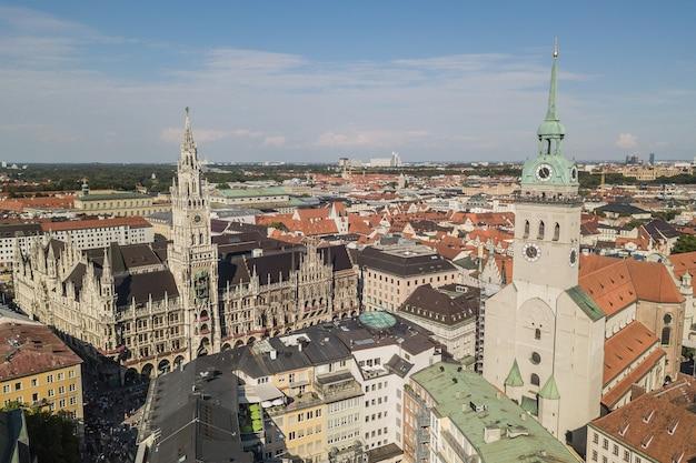 Luchtmening van stadscentrum van münchen