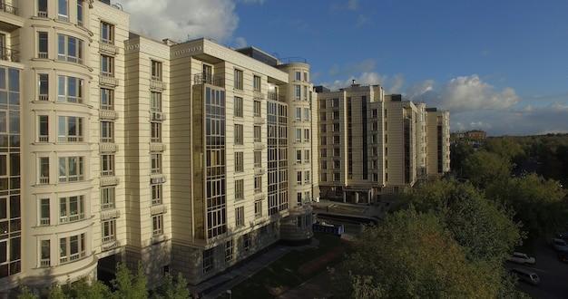 Luchtmening van wooncomplex in moskou, rusland