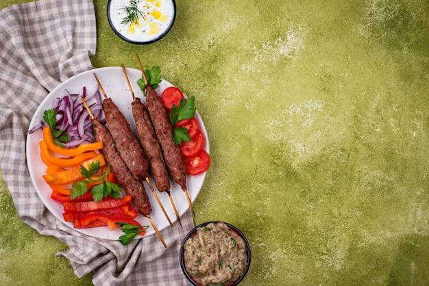 Lula kebab traditioneel turks of kaukasisch gerecht