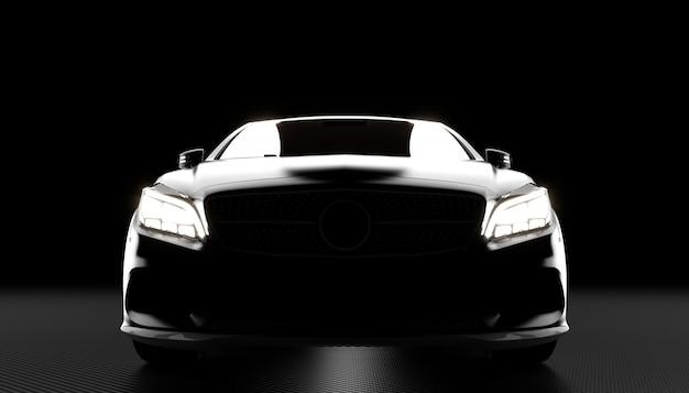 Luxe auto en koolstof achtergrond