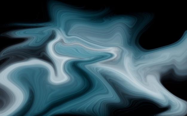 Luxe blauwe vloeibare marmeren achtergrond