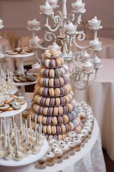 Luxe bruiloft candy bar tafelset.