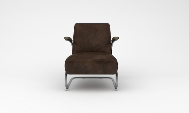 Luxe bureaustoel vooraanzicht meubels 3d-rendering