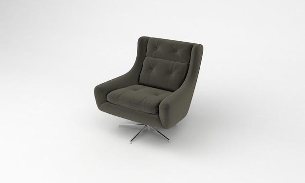 Luxe bureaustoel zijaanzicht meubels 3d-rendering