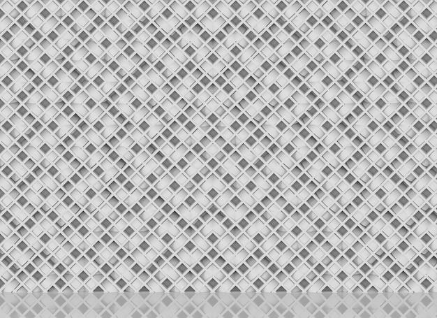 Luxe diagonale witte balken in moderne raster geometrisch patroon muur decor achtergrond
