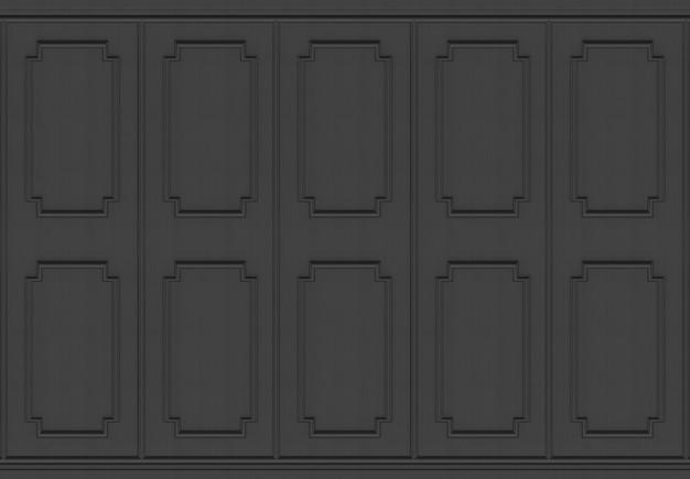 Luxe donkere hout vierkante vorm patroon paneel ontwerp muur achtergrond.