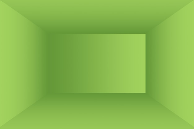 Luxe effen groene kleurovergang abstracte studio achtergrond