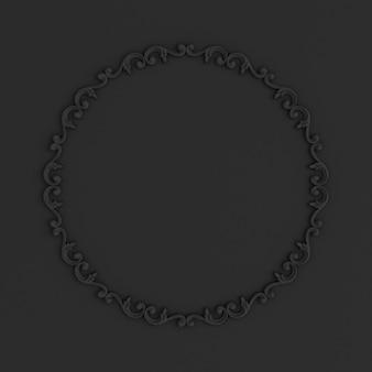 Luxe gips decoratie-element, muur concept stucwerk 3d illustratie weergave