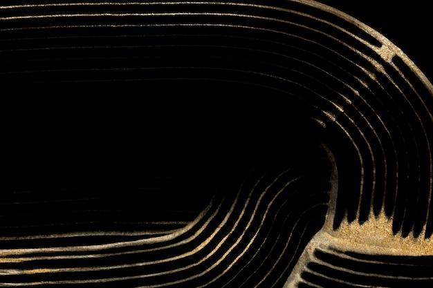 Luxe gouden gestructureerde achtergrond in zwarte abstracte kunst
