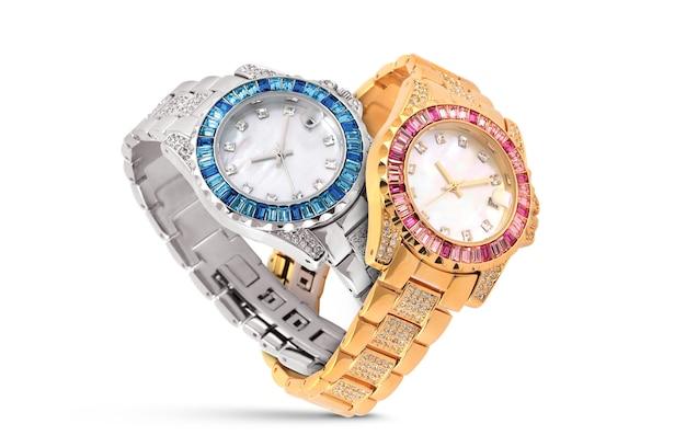 Luxe horloges op wit