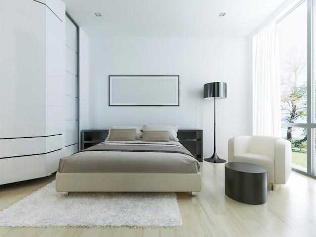 Luxe hotelkamer in het wit