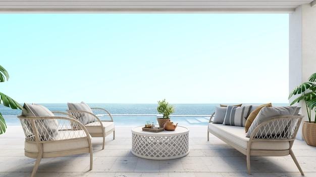Luxe huis op zee met zwembad