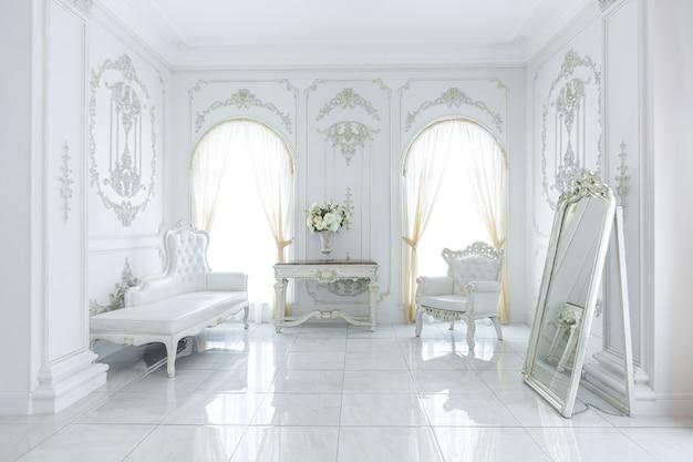 Luxe koninklijk chique interieur in barokke stijl.