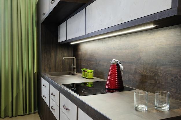 Luxe moderne bkrown keuken