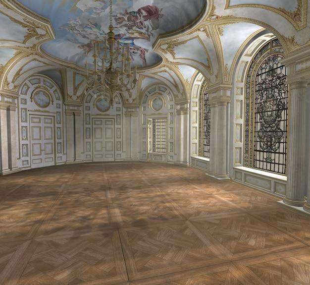 Luxe paleis interieur kamer