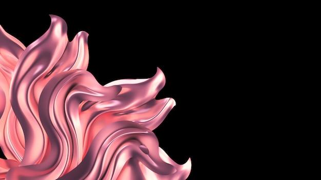 Luxe roze met parelgordijn van de stof.