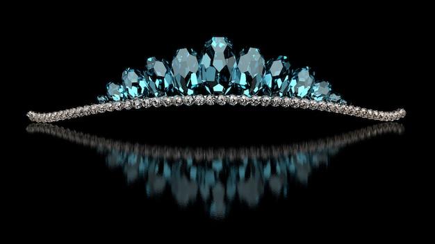 Luxe sieraden - bruiloft diadeem. 3d-weergave.