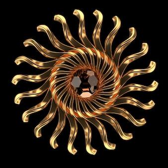 Luxe sieraden met edelsteen. 3d-rendering, 3d-afbeelding.