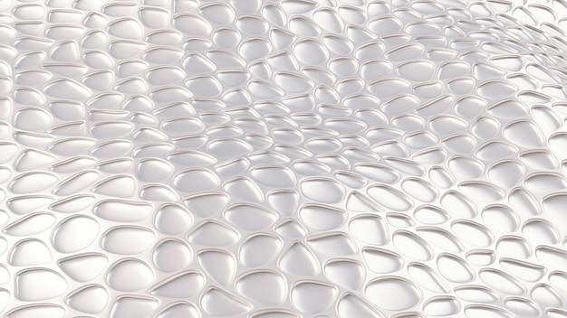 Luxe zilveren achtergrond met leder texture. 3d-afbeelding, 3d-rendering.