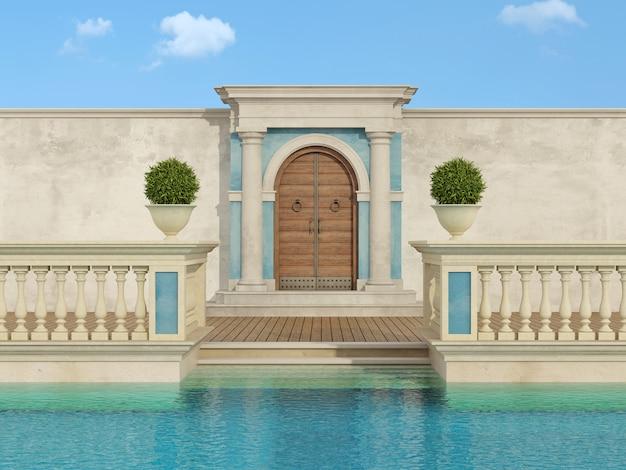 Luxe zwembad in klassieke stijl