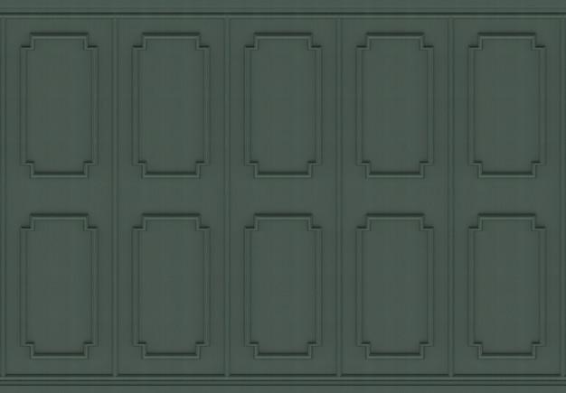 Luxueuze donkergroene houten vierkante het paneelmuurachtergrond van het vormpatroon.