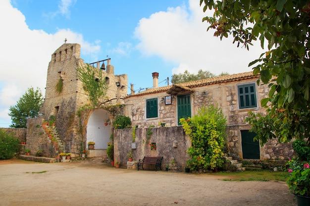 Maagd anafonitria-klooster, op het griekse eiland zakynthos