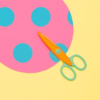 Maak minimale schaar en papier falat lay art