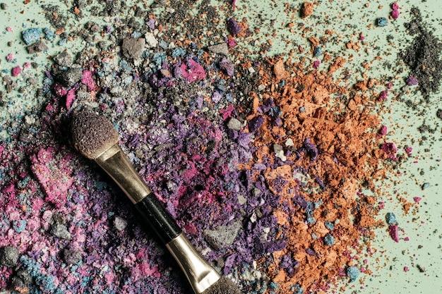 Maak poeder en poetsmiddel op