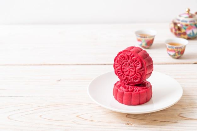 Maancake rood fluwelen smaak voor mid-autumn festival