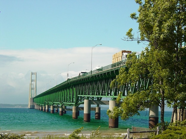 Mac grote meren lake michigan brug machtige