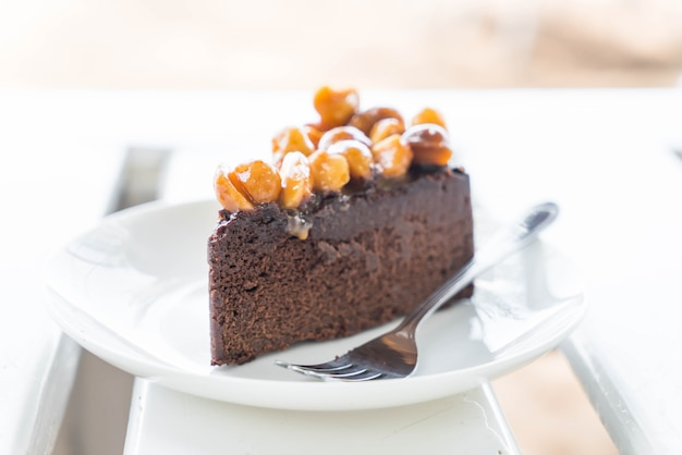 Macadamia chocoladetaart