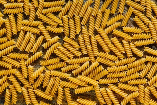 Macaroni pasta rauw voedsel