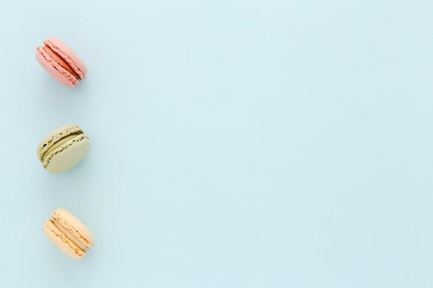 Macarons met kopie-ruimte