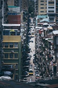 Macau - 14 april 2020: overvolle gemeenschappen in macau, china