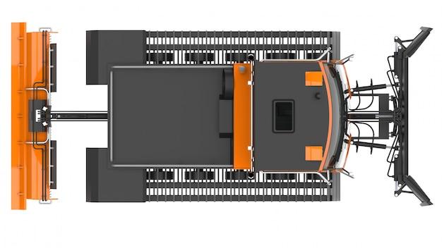 Machine voor het vrijmaken van de skipistes. 3d-weergave