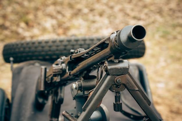Machinegeweer van het duitse leger van de tweede wereldoorlog