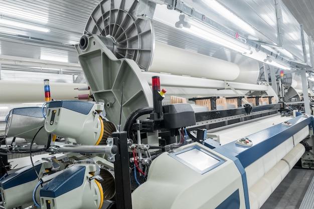 Machines en uitrusting in de weverij industriële textielfabriek loom