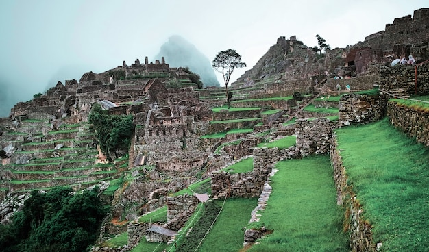 Machu picchu tempellandschap