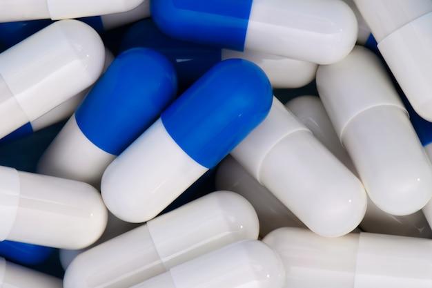 Macro medische achtergrond van tweekleurige drug