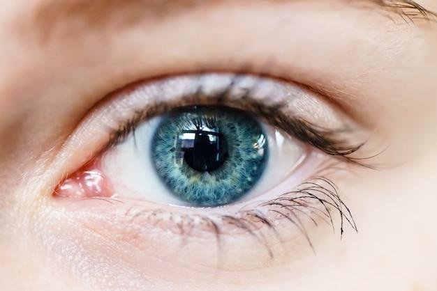 Macro opname van menselijk oog