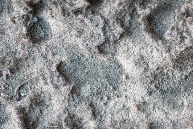 Macro stof en vuilnis van stofzuiger